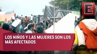 Guatemaltecos desplazados en Campeche padecen condiciones insalubres