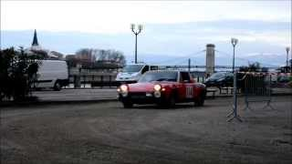 Porsche 914 arriving at a check point in the 2015 Historic Monte Carlo