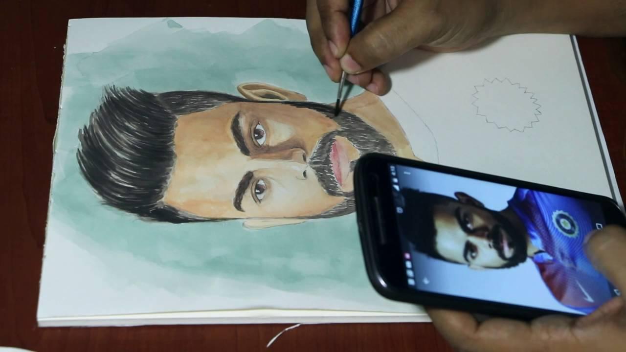 Drawing Virat Kohli Time Lapse By Shankar Kashyap