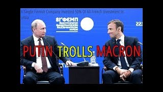 Putin Pokes Fun At Macron Over