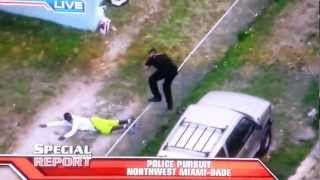 Police chase in Northwest Miami Dade - FL / USA - 11/16/12