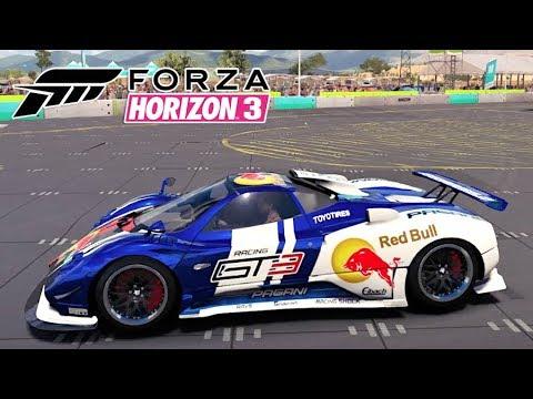 Pagani Zonda Cinque Roadster Jogo Forza Horizon 3 Gameplay PC