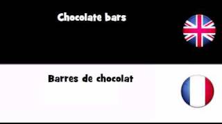 APPRENEZ L'ANGLAIS UK = Barres de chocolat
