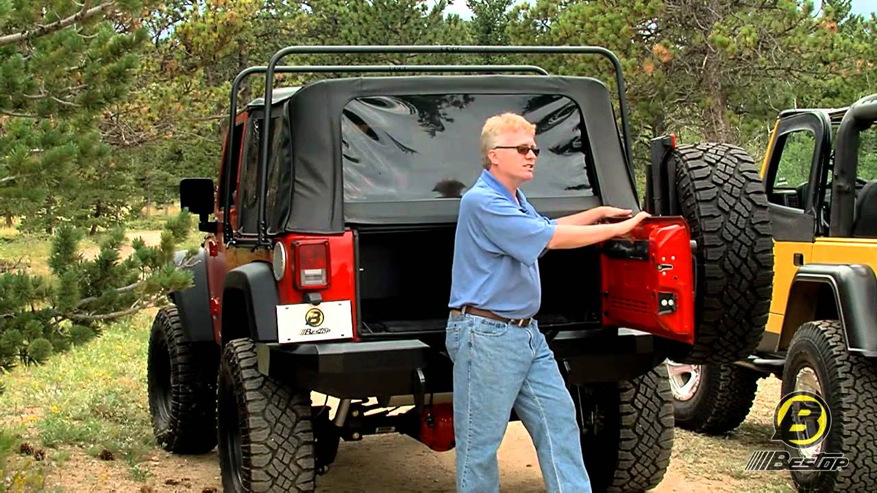 Bestop Highrock 4x4 Tire Carrier Review Youtube