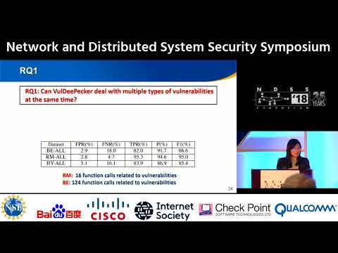 NDSS 2018 -  VulDeePecker: A Deep Learning-Based System for Vulnerability Detection