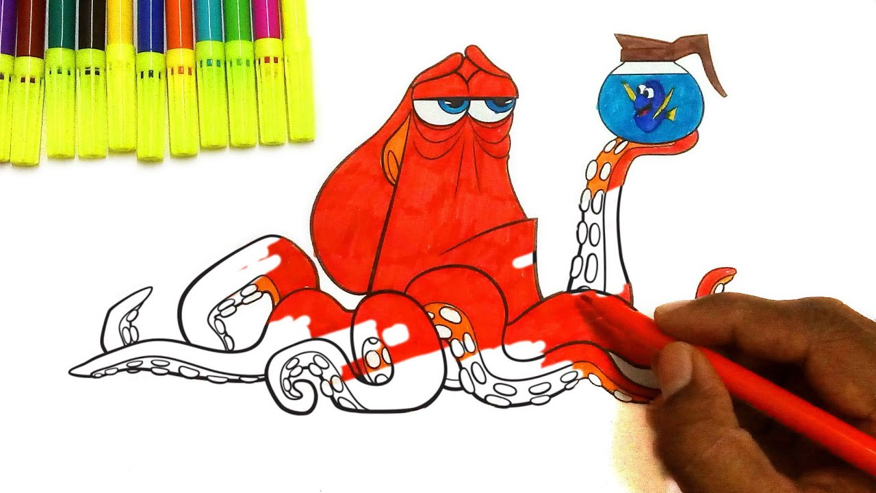 Hank Colouring page From Finding Dory - Learn Colors for kids ...