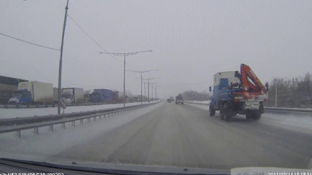 Массовое ДТП на трассе М4 (граница Липецкой и Воронежской области
