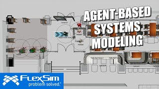 FlexSim's Agent Systems Tool   Agent-Based Simulation Modeling
