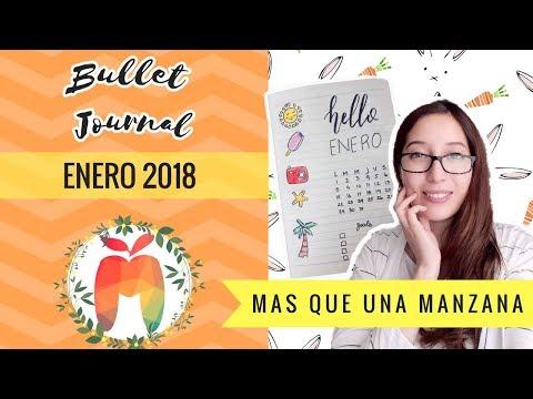 Bullet Journal Enero 2018 | Ideas en Español | Chile | In the Summer | Mas que una Manzana