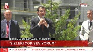 Ekrem İmamoğlu Genel Merkez önünde miting yaptı! Müthiş coşku...