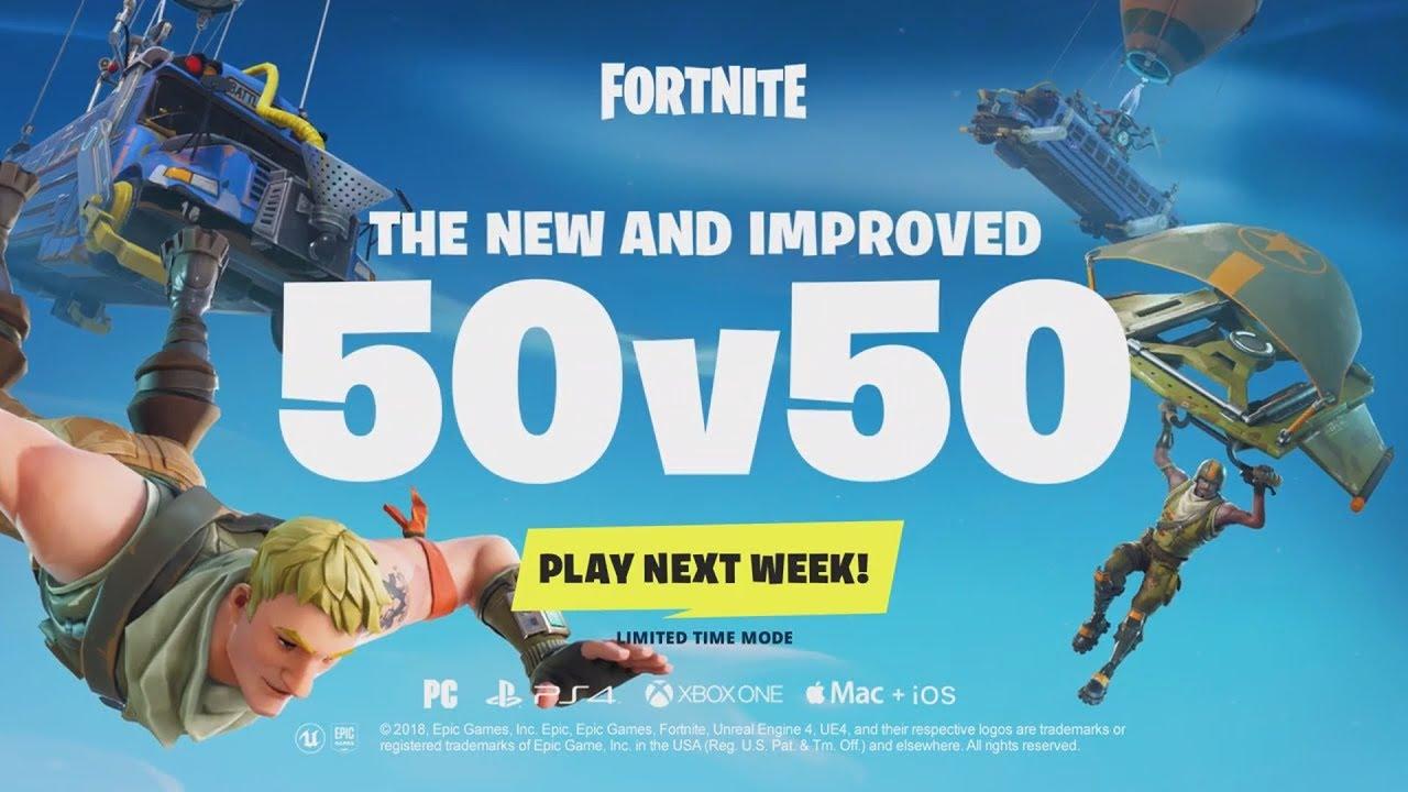 Insane New Limited Time Mode 50 Vs 50 V2 Coming To Fortnite Battle