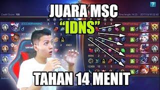KETEMU JUARA MSC IDNS TAHAN 14 MENIT !!! - MOBILE LEGEND BANG BANG