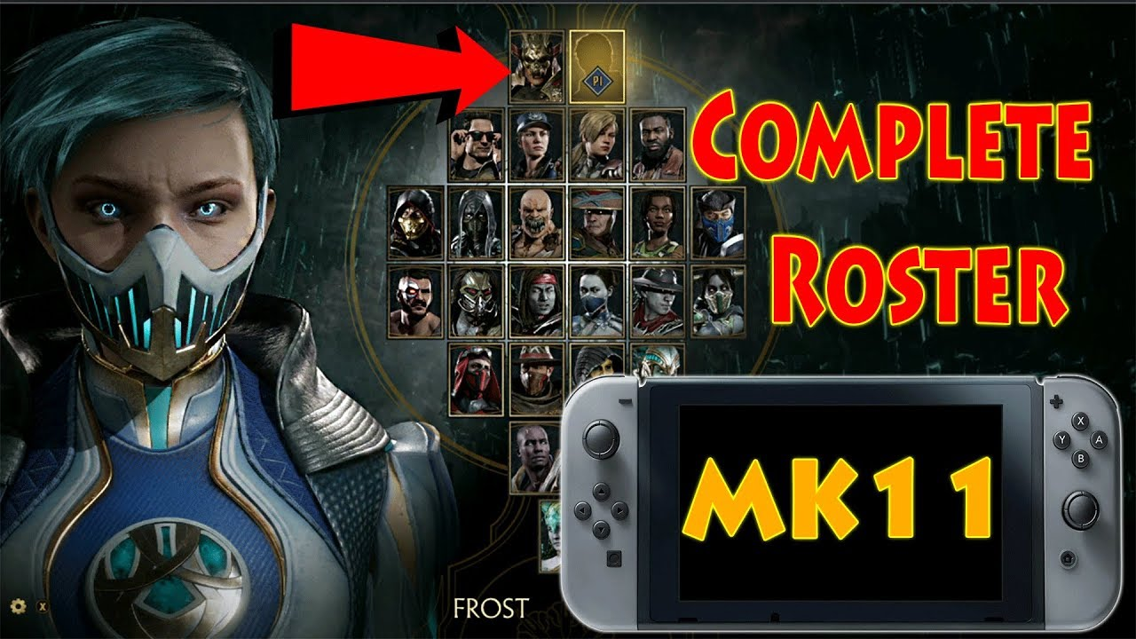 Mortal Kombat 11 Nintendo Switch Characters Complete Roster
