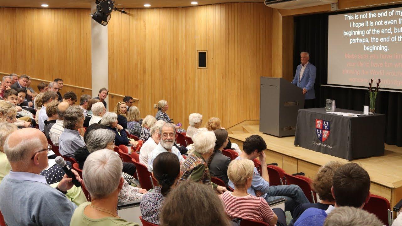 Dr John C Taylor OBE at the McCrum Lecture Theatre