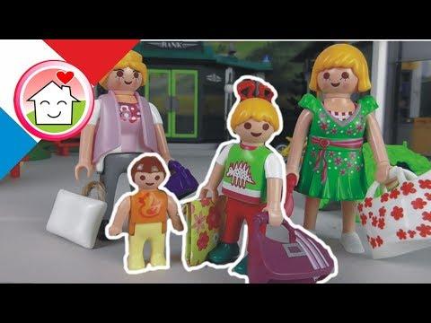 Playmobil en français Shopping avec la famille Hauser - film pour enfants