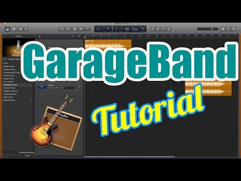 GarageBand Tutorial for Beginners - Record Audio Vocals, Edit, and Export to MP3