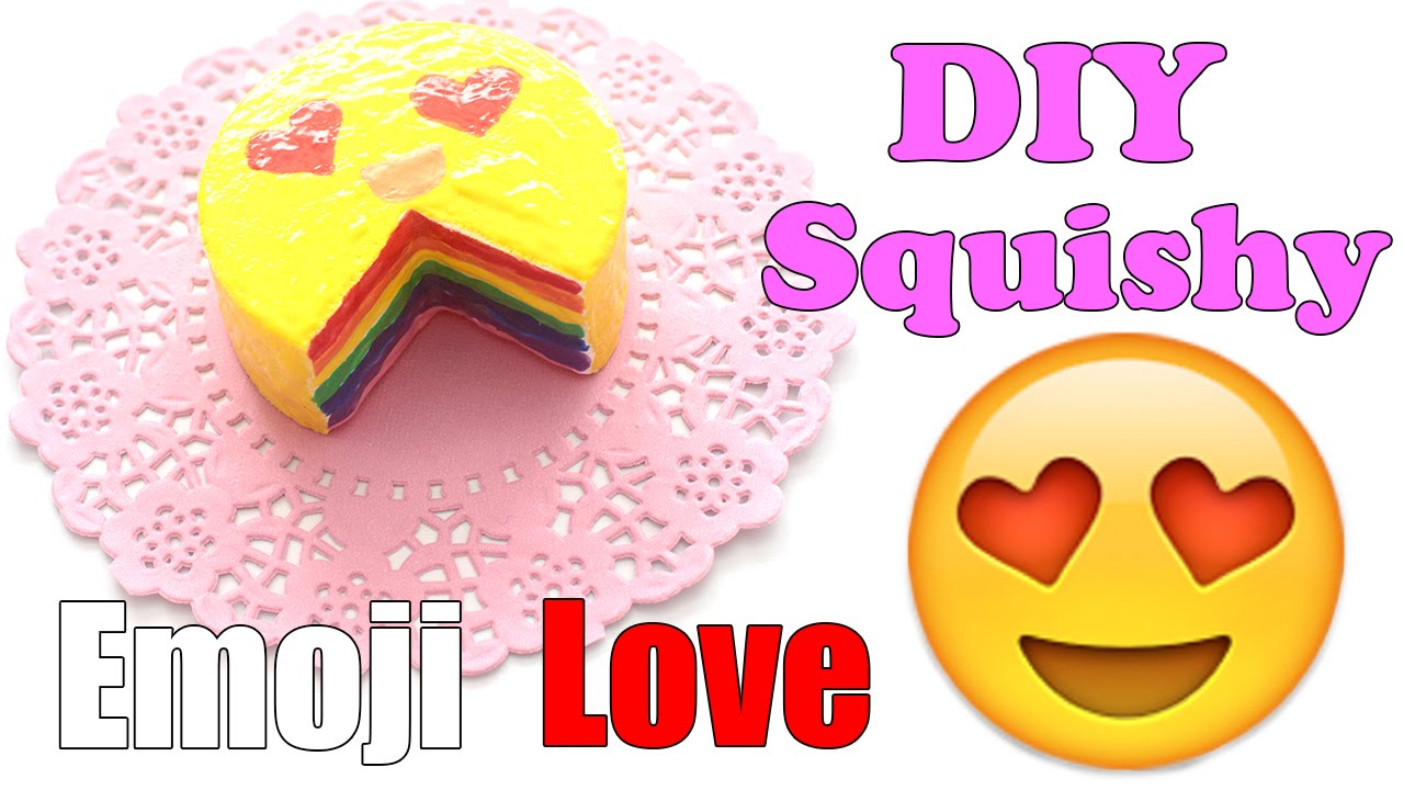Easy Emoji Rainbow Cake Squishy Tutorial Make Up Sponge