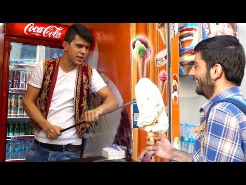 istanbul street food | turkish ice cream maraş dondurması - Ultimate Prankster | turkey street food