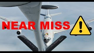 E-8 AWACS Air Refueling gone wrong..
