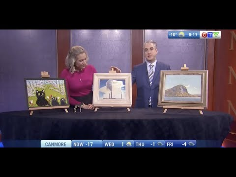 Rob Cowley Visits CTV Morning Live Before Consignor's Calgary Valuation Day