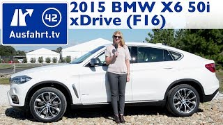 2015 BMW X6 F16 xDrive50i V8 - Fahrbericht - Test - Review - German - Deutsch(English version: https://www.youtube.com/watch?v=bKUKge9lvpU 01:45 Fakten, Fakten, Fakten 02:38 Exterieur 07:16 Soundcheck 07:44 Interieur 16:48 ..., 2014-10-26T08:08:19.000Z)