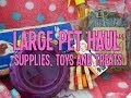 Large Pet Haul: Supplies, Toys and Treats   RosieBunneh