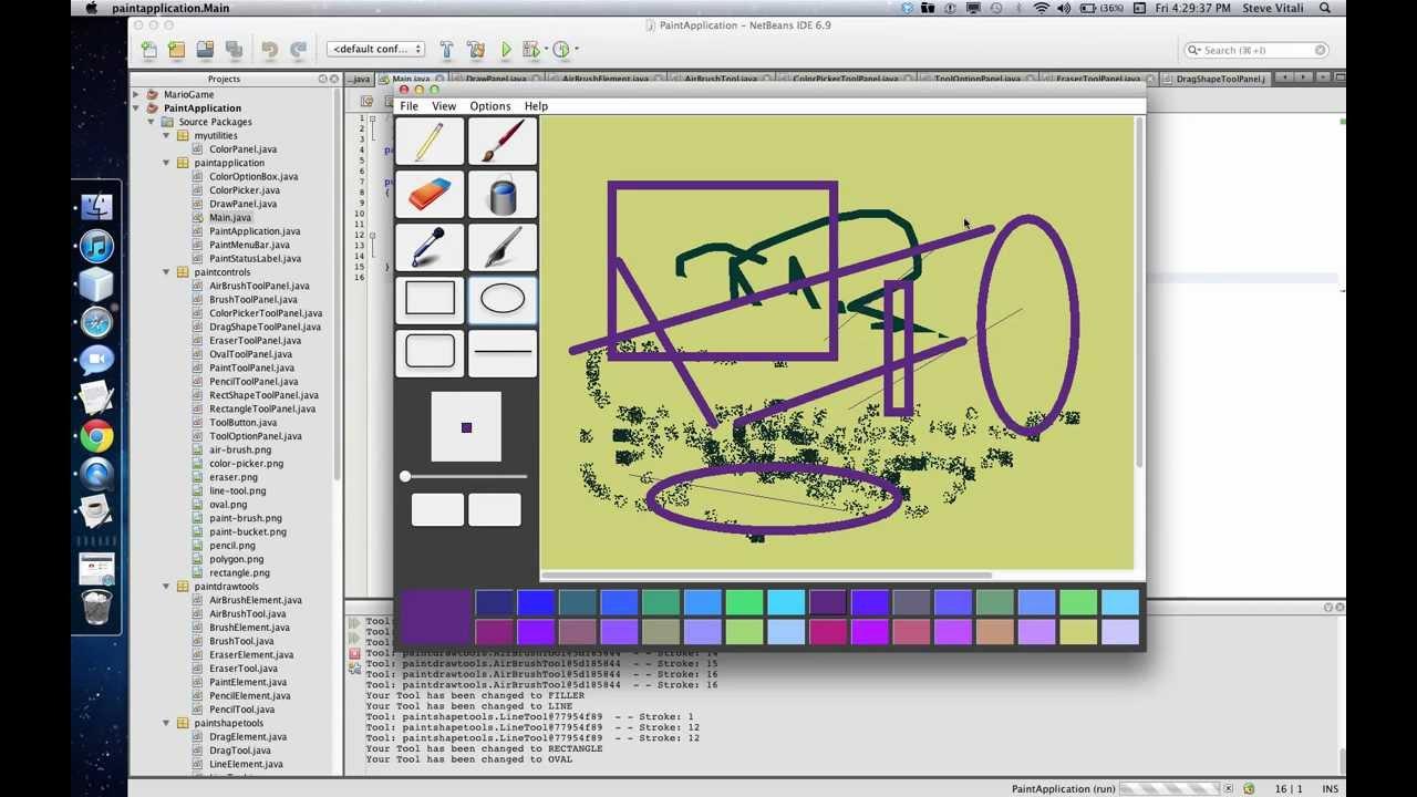 Java Paint Application Youtube