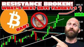 BITCOIN BAN // $BTC Breaks Resistance - New Price Target