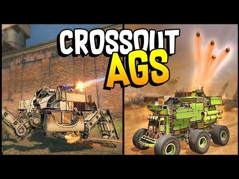Crossout - AUTOMATIC GRENADE LAUNCHER + THUNDERBOLT SHOTGUN Mech Walker - Crossout Gameplay