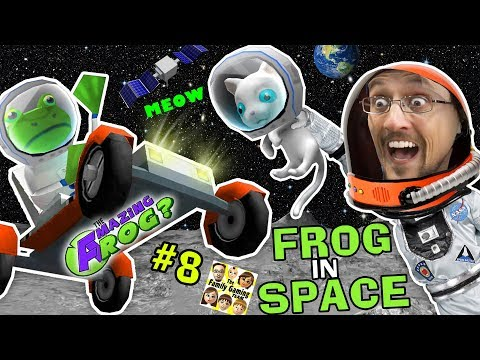 AMAZING FROG in SPACE! Creepy Kitten on Moon w/ Superman Kryptonite Laser? || FGTEEV Part 8