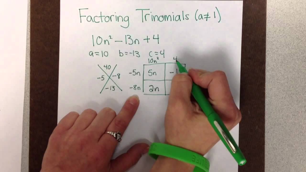 Factoring Trinomials with Leading Coefficient not equal to   YouTube