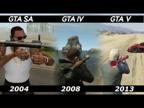 GTA RPG COMPARISON : GTA IV Vs GTA SAN ANDREAS Vs GTA 5   Which Game Works Best ?