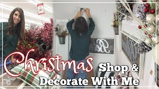 CHRISTMAS DECORATE WITH ME   HOBBY LOBBY SHOP WITH ME + DECORATING   Momma From Scratch