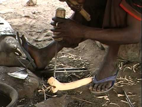 Blacksmiths Working in Forge, Mali, West Africa (Long version)