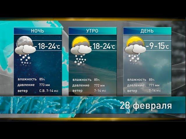 Прогноз погоды на 28 февраля