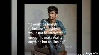 Sushant singh rajput..... best quotes 😍😍