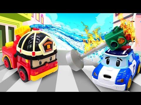 Робокар Поли чинит светофор. Машины сказки - Мультик из  игрушек для детей