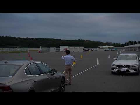 ボルボS60 トレーニング動画サイクリスト検知機能など