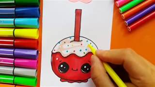 Learn to Draw Happy Apple Candy
