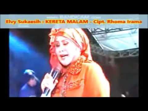 Lagu Dangdut Lama : KERETA MALAM - Vokal : ELVY SUKAESIH -- Live Show  1,045