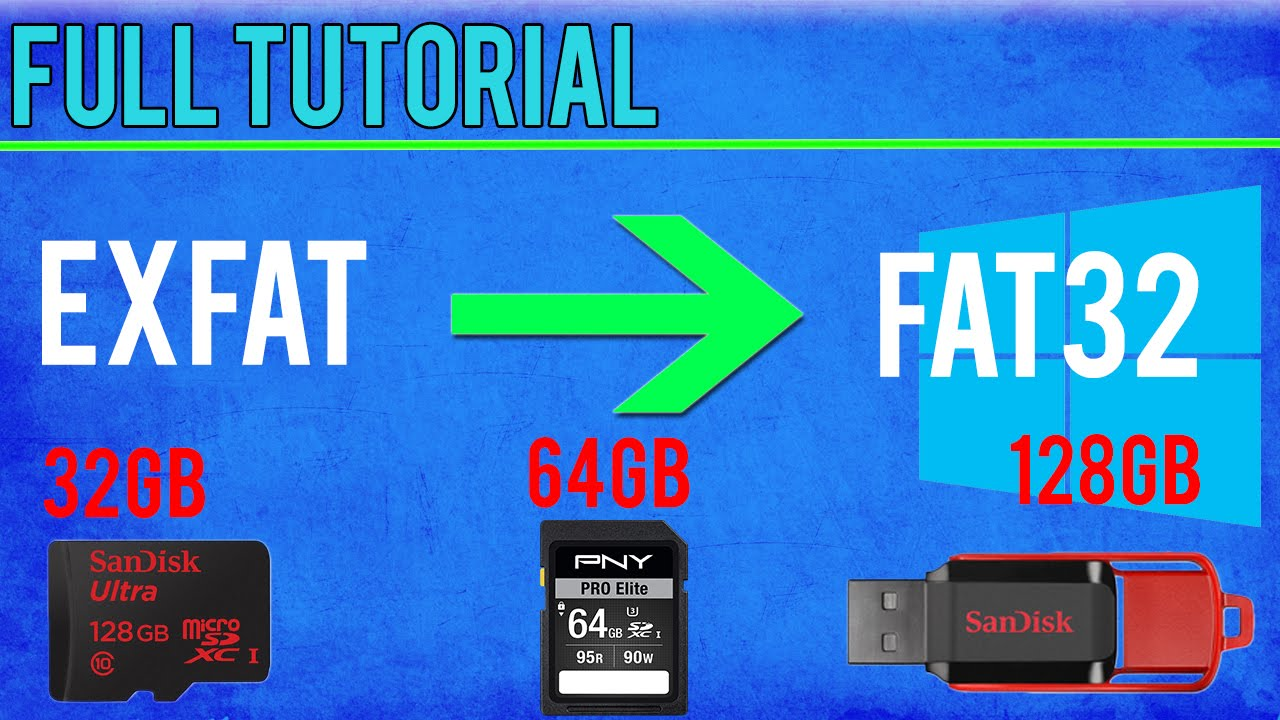 128gb Sd Karte.How To Format Sd Card To Fat32 Win 10 8 1 8 7 Vista Tutorial