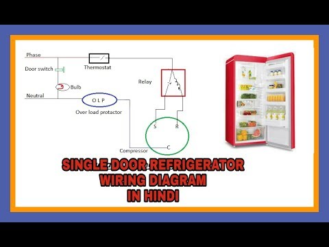 It training Single Door Refrigerator wiring diagram in