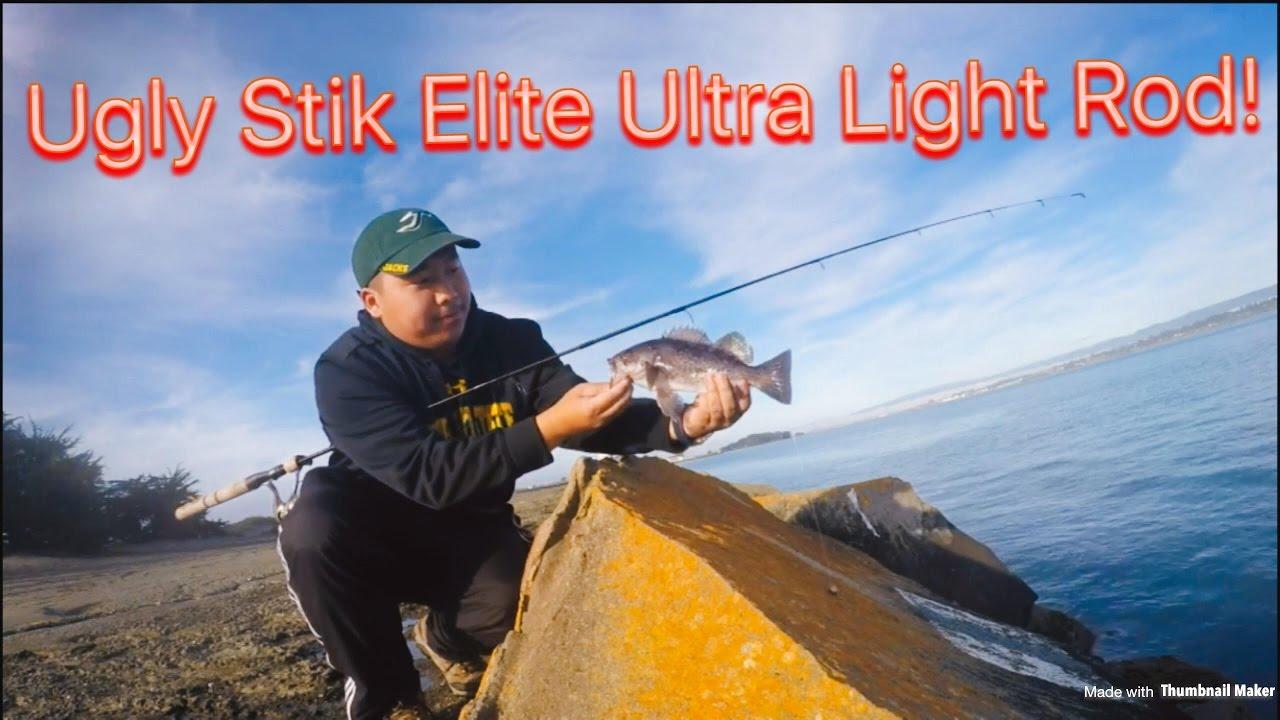 Ugly Stik Elite Ultra Light Rod Against Saltwater Rock
