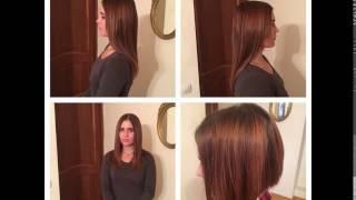 Наращивание не большой длины волос. 25-35см