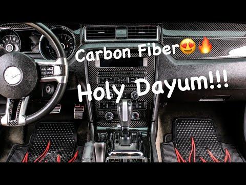 Installing Carbon Fiber Dash Kit On 2014 Mustang Gt!🔥