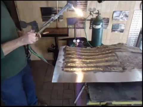 b01c58f7e30e How To Make A Rustic Metal Flag With A Torch - YouTube