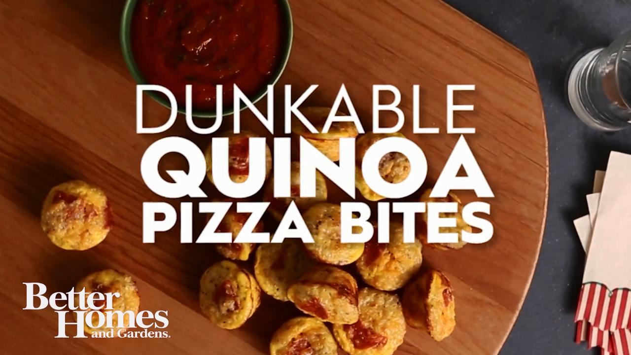 dunkable quinoa pizza bites youtube