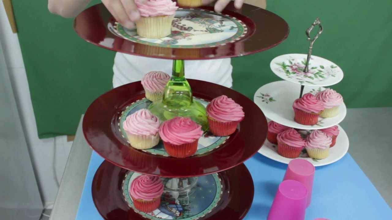 Tutorial Soporte Facil Para Cupcakes Easy Cupcakes Stand