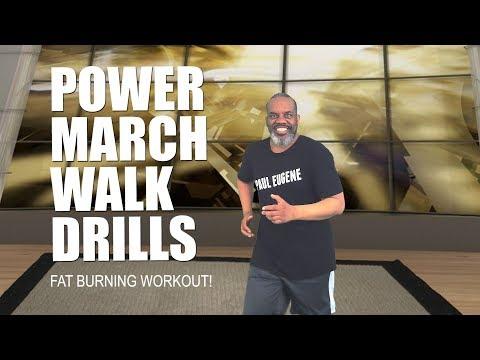 Power March Walk Drills Fat Burning Workout