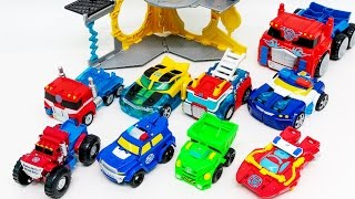 Transformers Rescue Bots Optimus Prime Bumblebee Rescue Repair Station 9 Vehicles Robot Car Toys